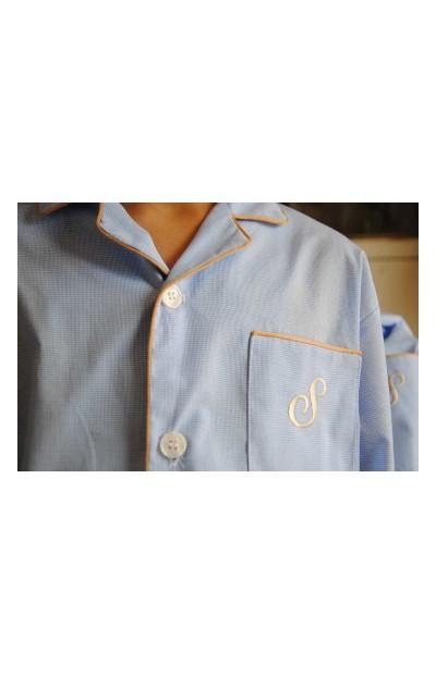 Conjunto Bata y Pijama clásico oxford